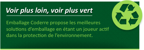 Emballage Coderre Packaging - impression-plus-loin - developpement durable