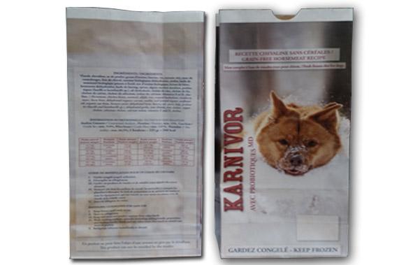 Pet Food Bags | Kraft paper bags | Coderre Packaging Inc